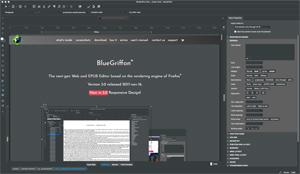 Capture d'écran du logiciel BlueGriffon 2.3.1 fr - Linux