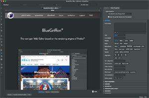 Capture d'écran du logiciel BlueGriffon 2.3.1 fr - MacOS