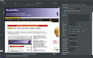 Capture d'ecran du logiciel BlueGriffon Portable 3.1 fr - Windows