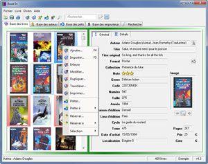 Capture d'écran du logiciel Book'In 4.3b fr