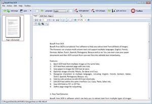 Capture d'ecran du logiciel Boxoft Free OCR 3.0