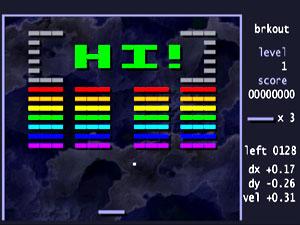 Capture d'ecran du logiciel Brkout 0.1.2