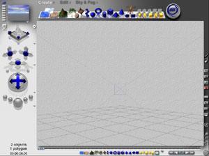 Capture d'ecran du logiciel Bryce Personal Learning Edition 7.1.0.109