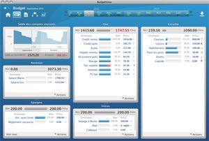 Capture d'écran du logiciel BudgetView 4.03 fr - MacOS