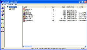 Capture d'ecran du logiciel CDGenPS2 Versions 2.0 fr - 2.1 es - 3.0 fr