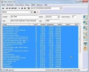 Capture d'ecran du logiciel CDex 2.23 fr