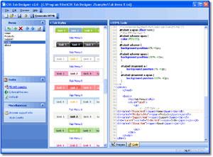 Capture d'écran du logiciel CSS Tab Designer 2.0