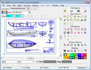 Capture d'écran du logiciel CadStd Lite 3.7.5