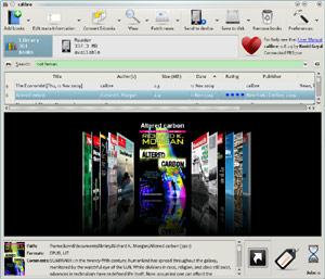 Capture d'ecran du logiciel Calibre 4.13.0 fr - Windows