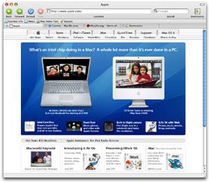 Capture d'ecran du logiciel Camino 2.1.2 fr