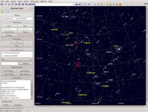 Capture d'ecran du logiciel Cartes du Ciel 4.0-3575 fr