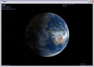Capture d'écran du logiciel Celestia Portable 1.6.1 Rev.2