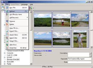 Capture d'écran du logiciel Cheez 3.4 fr