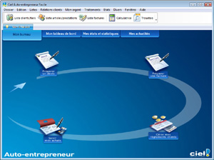 Capture d'ecran du logiciel Ciel Auto-entrepreneur Standard 6.10 fr