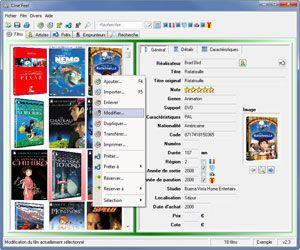Capture d'écran du logiciel Cine'Feel 2.3 fr