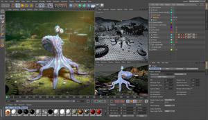 Capture d'écran du logiciel CINEMA 4D Studio R19.024