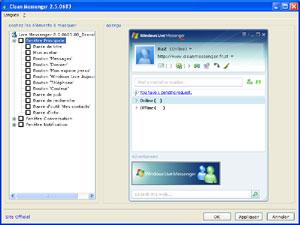 Capture d'écran du logiciel Clean Messenger 2.7.0178 fr