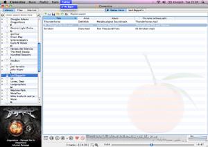 Capture d'écran du logiciel Clementine 1.3.1 fr - MacOS