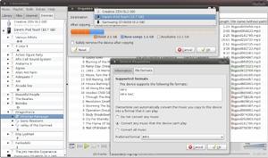Capture d'écran du logiciel Clementine 1.3.1 fr - Ubuntu