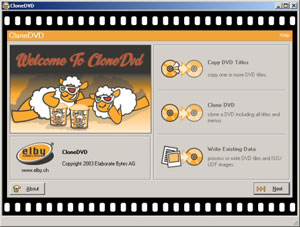 Capture d'écran du logiciel CloneDVD 2.9.3.3 fr