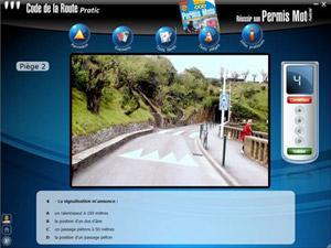 Capture d'écran du logiciel Code de la Route Pratic 2013