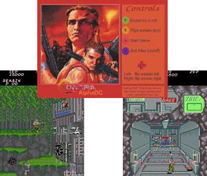 Capture d'écran du logiciel Mame Contra Single Arcade