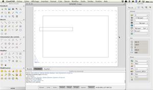 Capture d'écran du logiciel CorelCAD 2018 fr - Mac