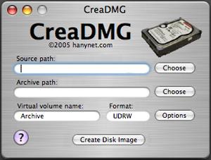 Capture d'écran du logiciel CreaDMG 1.7
