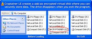 Capture d'ecran du logiciel Cryptainer LE 14.2.5 fr