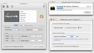 Capture d'ecran du logiciel D-Volution 2.02 fr