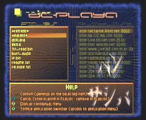 Capture d'écran du logiciel DCPlaya 2.0 beta 2