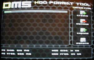 Capture d'écran du logiciel DMS HDD Explorer 1.31