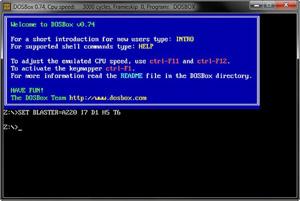Capture d'ecran du logiciel DOSBox 0.74-3 fr