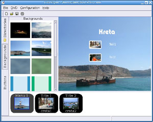 Capture d'écran du logiciel DVDStyler 2.9.6 fr - Windows