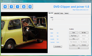 Capture d'écran du logiciel Sofonesia DVD Clipper and Join...