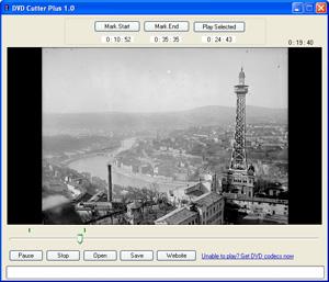 Capture d'ecran du logiciel DVD Cutter Plus 1.0.1