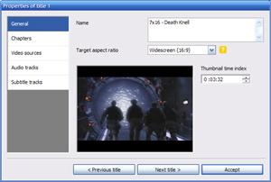 Capture d'écran du logiciel DVD Flick 1.3.0.7