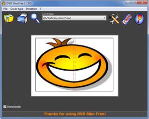Capture d'écran du logiciel DVD Slim Free Portable 2.8.0.2 Fr