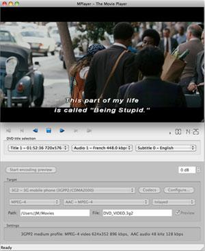 Capture d'écran du logiciel Dvdx 4.0.1.0a fr - MacOS