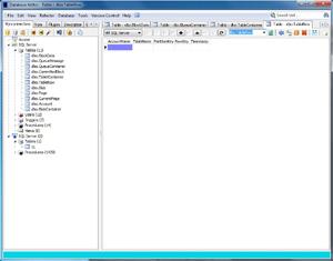 Capture d'écran du logiciel Database Editor 3.2.0