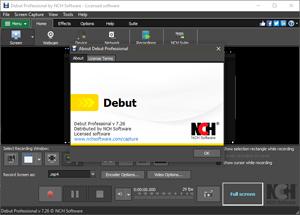Capture d'ecran du logiciel Debut - 5.32 fr