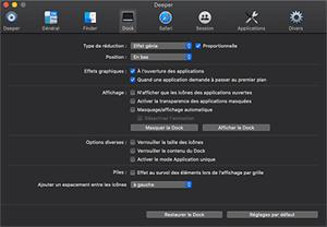 Capture d'écran du logiciel Deeper 2.2.8 fr