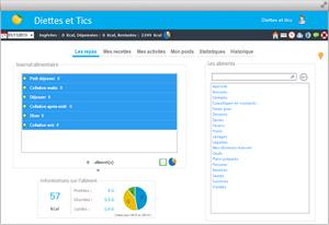 Capture d'ecran du logiciel Diettes et Tics 2.6.1 fr