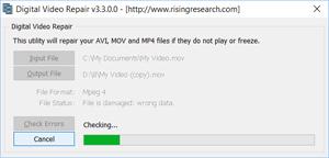 Capture d'ecran du logiciel Digital Video Repair 3.5.0.1