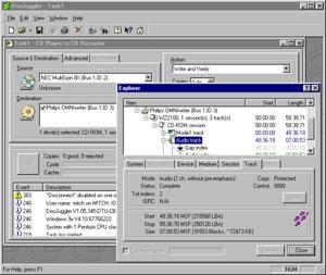 Capture d'écran du logiciel DiscJuggler 6.00.1400 fr