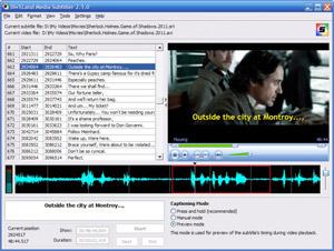 Capture d'ecran du logiciel DivXLand Media Subtitler 2.2.0 fr