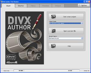 Capture d'écran du logiciel DivX Author 1.5 fr