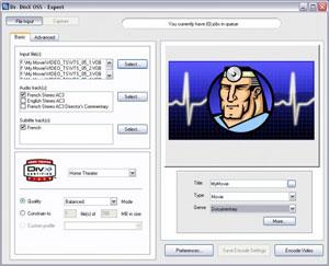 Capture d'écran du logiciel Dr DivX 2.0.1 b7 fr