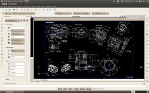 Capture d'écran du logiciel DraftSight 2018 SP2 fr - Linux