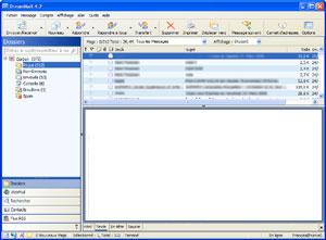 Capture d'écran du logiciel DreamMail Portable 4.6.9.2 fr